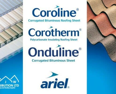 AJW Coroline and Onduline plastic roofing materials