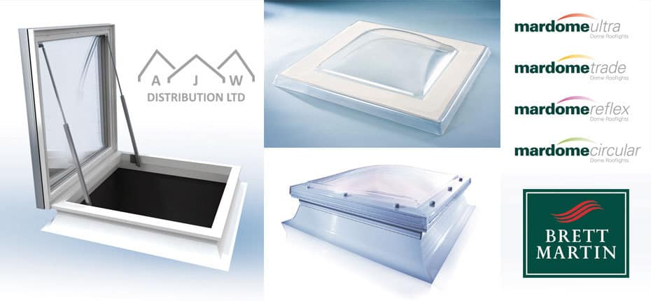 Brett Mardome dome rooflights from AJW Distribution
