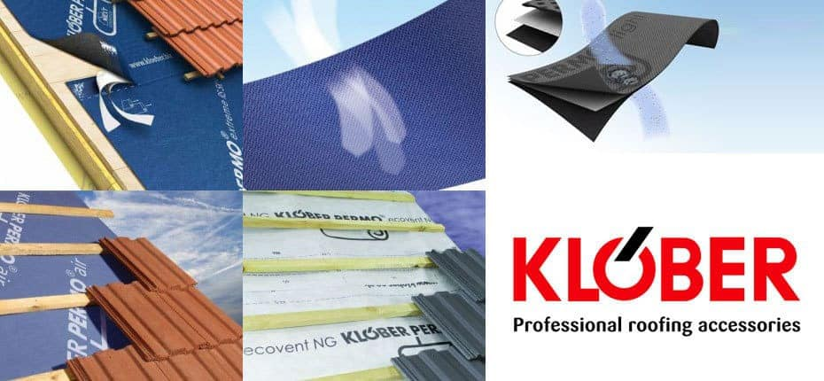 Klober roofing breather membrane from AJWr