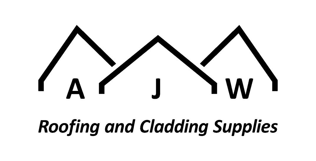 AJW short logo with strapline black on white background