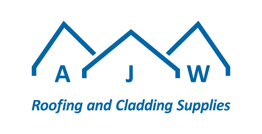 AJW short logo with strapline on white background