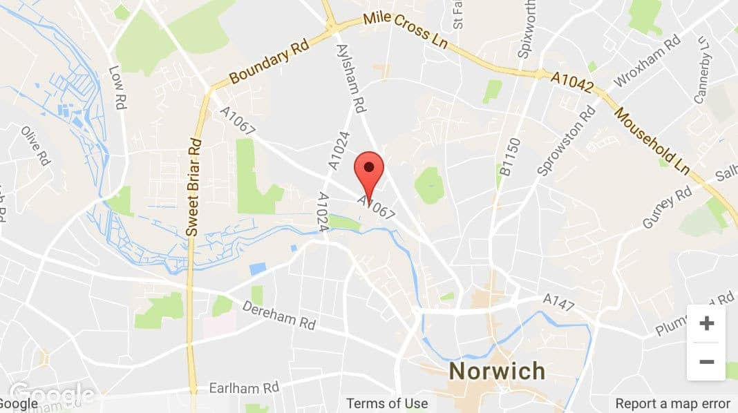 AJW Norwich Location Map