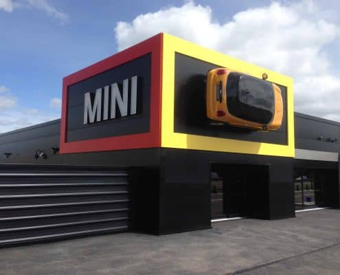 BMW MINI roof cladding project by AJW Distribution