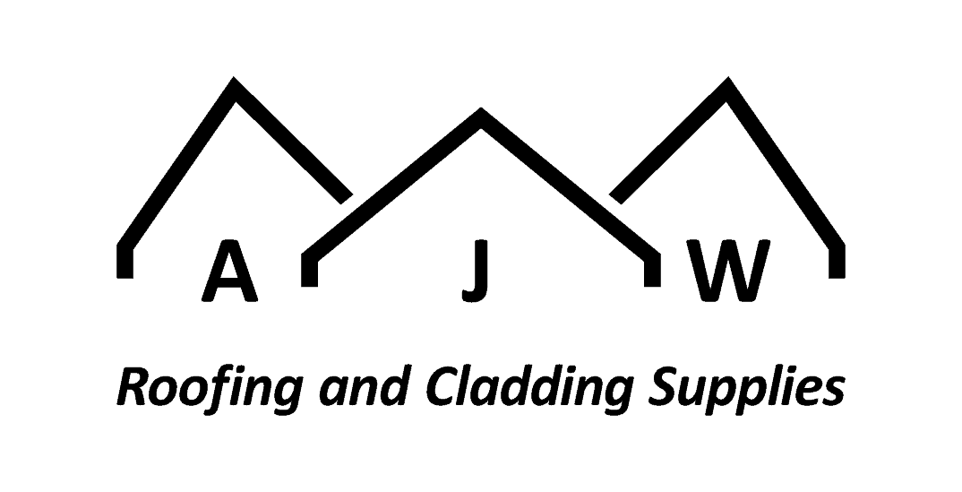 AJW short logo with strapline black on white background