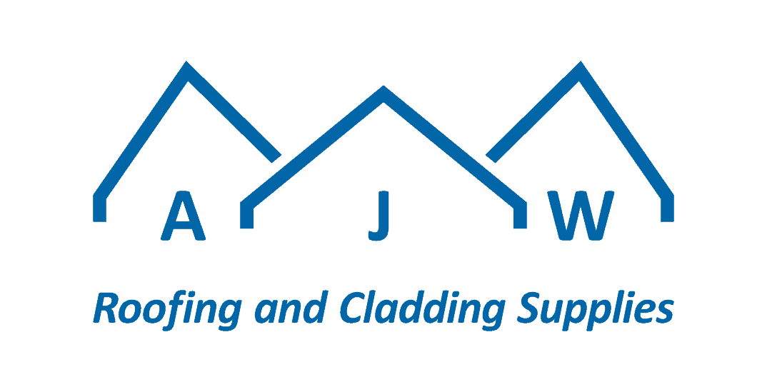 AJW short logo with strapline on white background