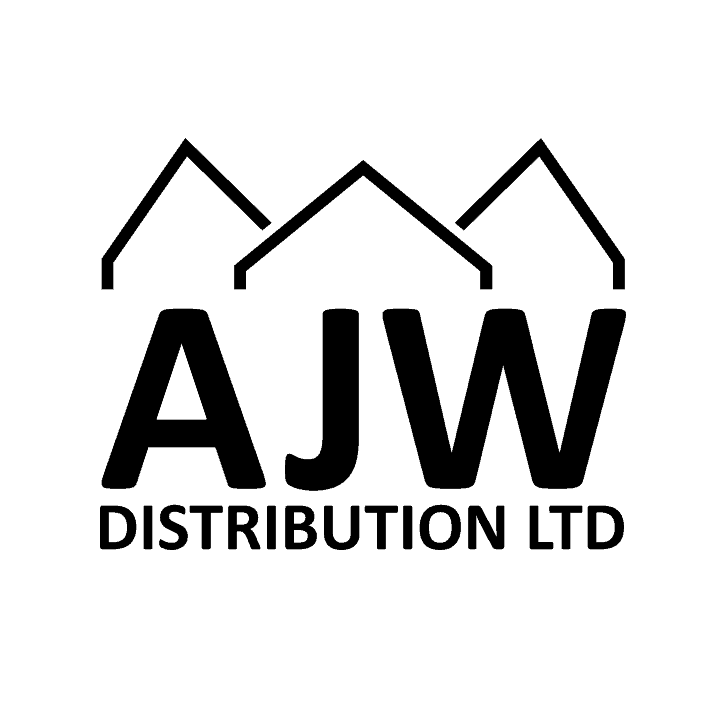 AJW Logo - black on white background square
