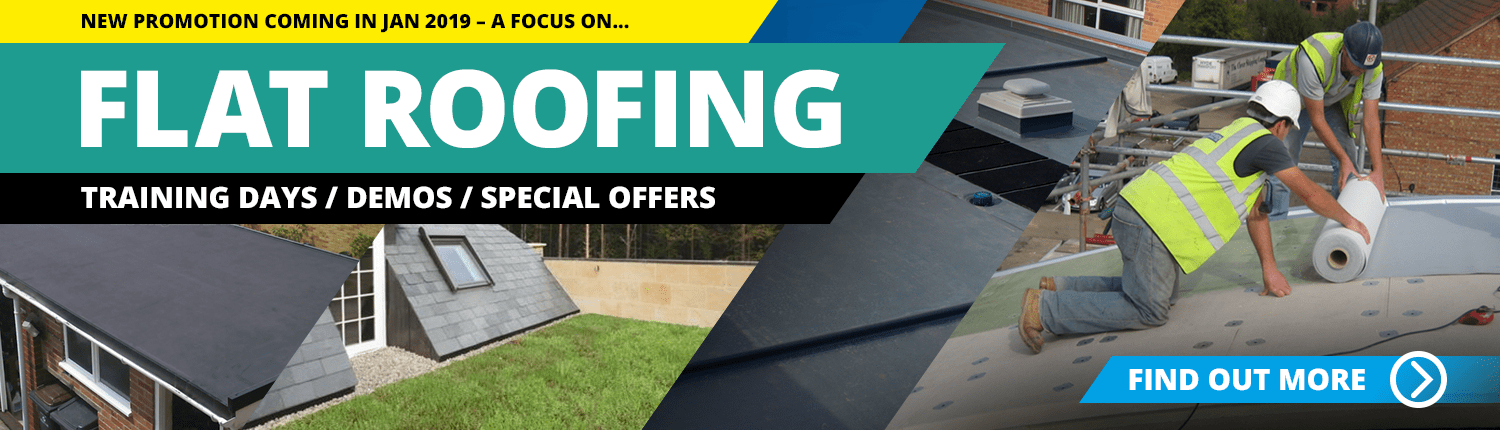 Flat roofing promo banner